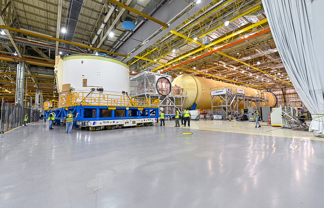 Engine Section for NASA's SLS Rocket Moved for Final Integration