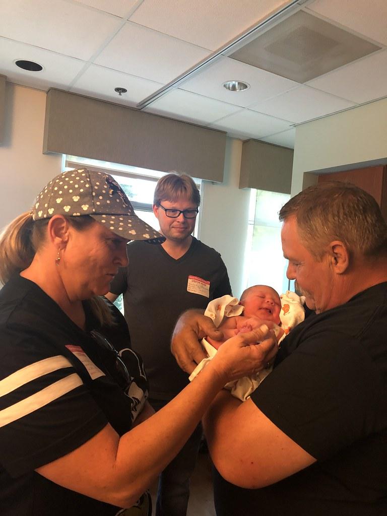 Lily Meeting Papa Marty & Grandma Karebear