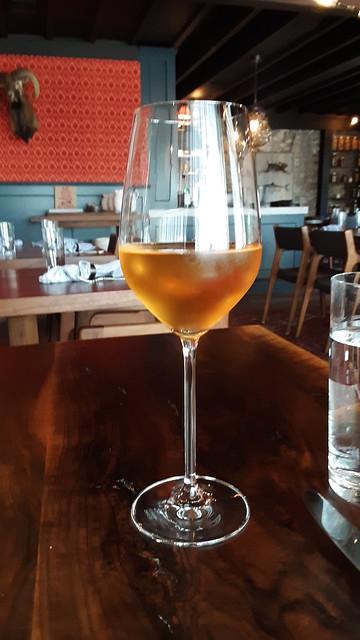 A glass of Georgian wine