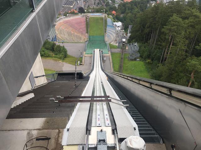 49 - Blick auf den Sprungbereich vom Turmrestaurant - Bergisel Schanze