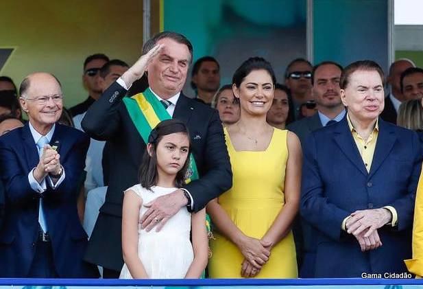 Presidente Jair Bolsonaro abre 7 de Setembro com Edir Macedo e Silvio Santos