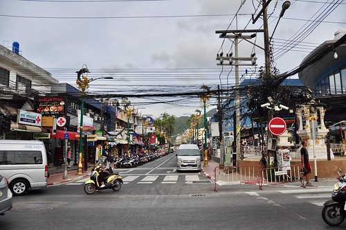 The road to Patong Beach