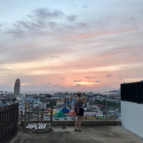 Rooftop view from our AirBnB in Patong