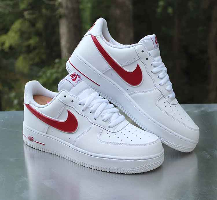 Nike Air Force 1 07 Low Men's Size 9.5 White Gym Red AO2423 ...
