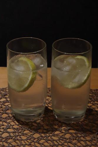 2 Gläser Gin Tonic