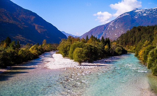 Slovenia, Bovec - along the Soca River