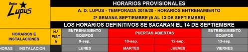 2019-20 HORARIO PROVISIONAL 9-15 SEPTIEMBRE PEQ