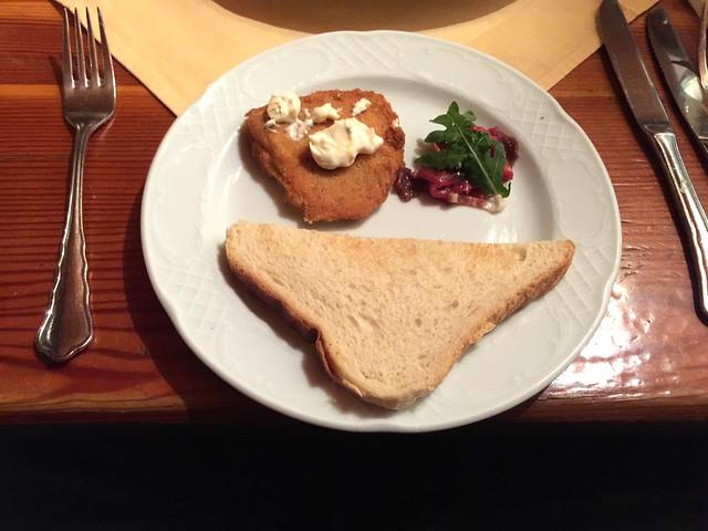 72 - Vorspeise Bovist, Carpaccio & Toastbrot - Wirtshaus Nattererboden