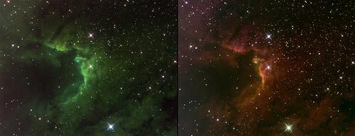 Sh2-155 Cave Nebula in narrowband
