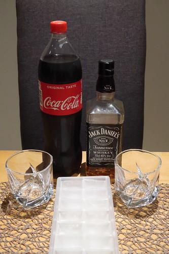 Zutaten für Whiskey Cola