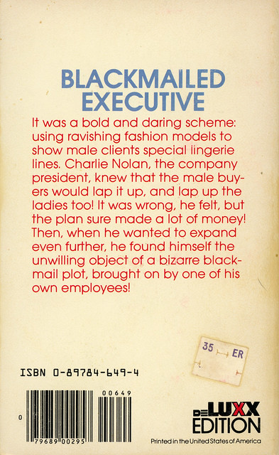 deLuxx Editions - Carl Stevens - Model for Hire (back)