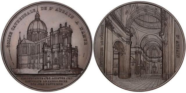 Cathedral in Namur medal