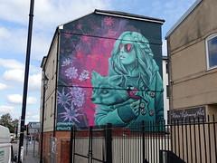 Mural in Cheltenham (for Cheltenham Paint Festival 2019) by Faunagraphic