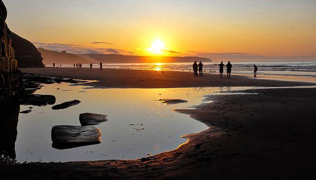 Whitby Beach Sunset