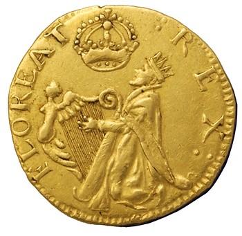 Fake gold St. Patrick Piece obverse