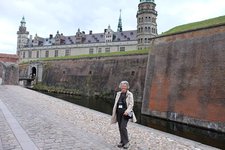 Moat and curtain wall