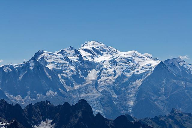 Le Mont Blanc vu depuis le Mont Buet