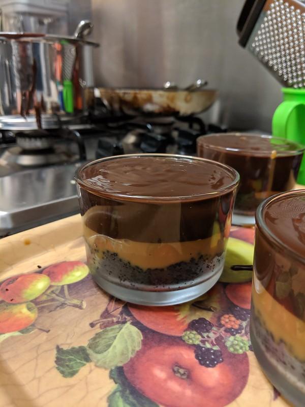 Pudding club millionaire chocolate pots