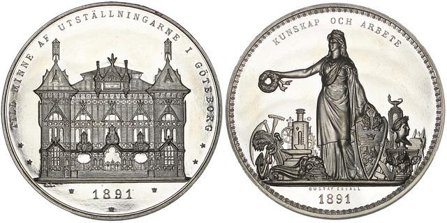Gothenburg Industrial Exposition medal