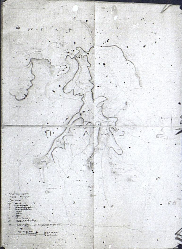 326. 1899. Абиссиния. г. Аддис-Абеба. Карта области Бульга