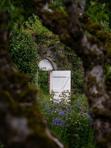 lincolnshire 2019 gunbyhall nationaltrust garden tree gate door