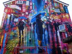 Mural in Cheltenham (for Cheltenham Paint Festival 2019) by Dan Kitchener