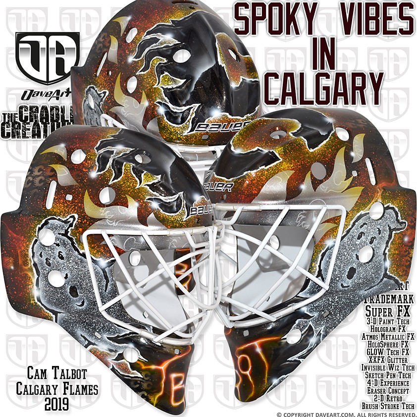 Spooky Vibes In Calgary | Cam Talbot, Calgary Flames, 2019