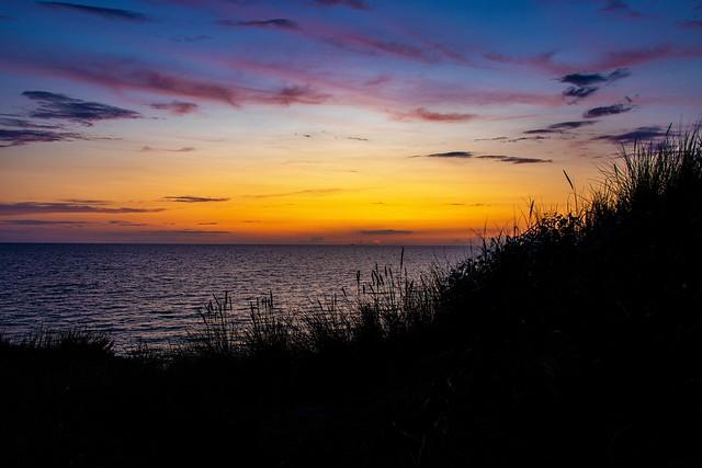 Sonnenuntergang in Wustrow