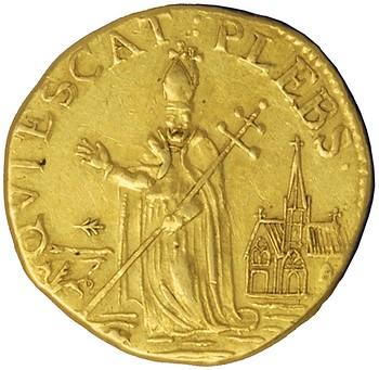 Fake gold St. Patrick Piece reverse