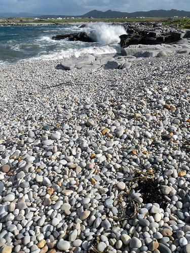 a stoney beach on the Inishowen Peninsula of Ireland