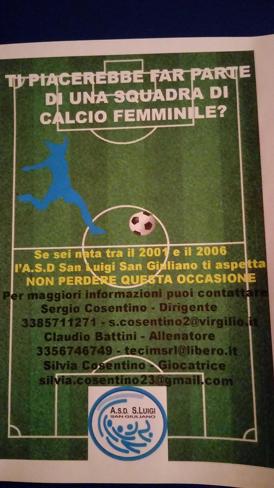 Al via la nuova stagione calcistica CALCIO FEMMINILE 2019 / 2020