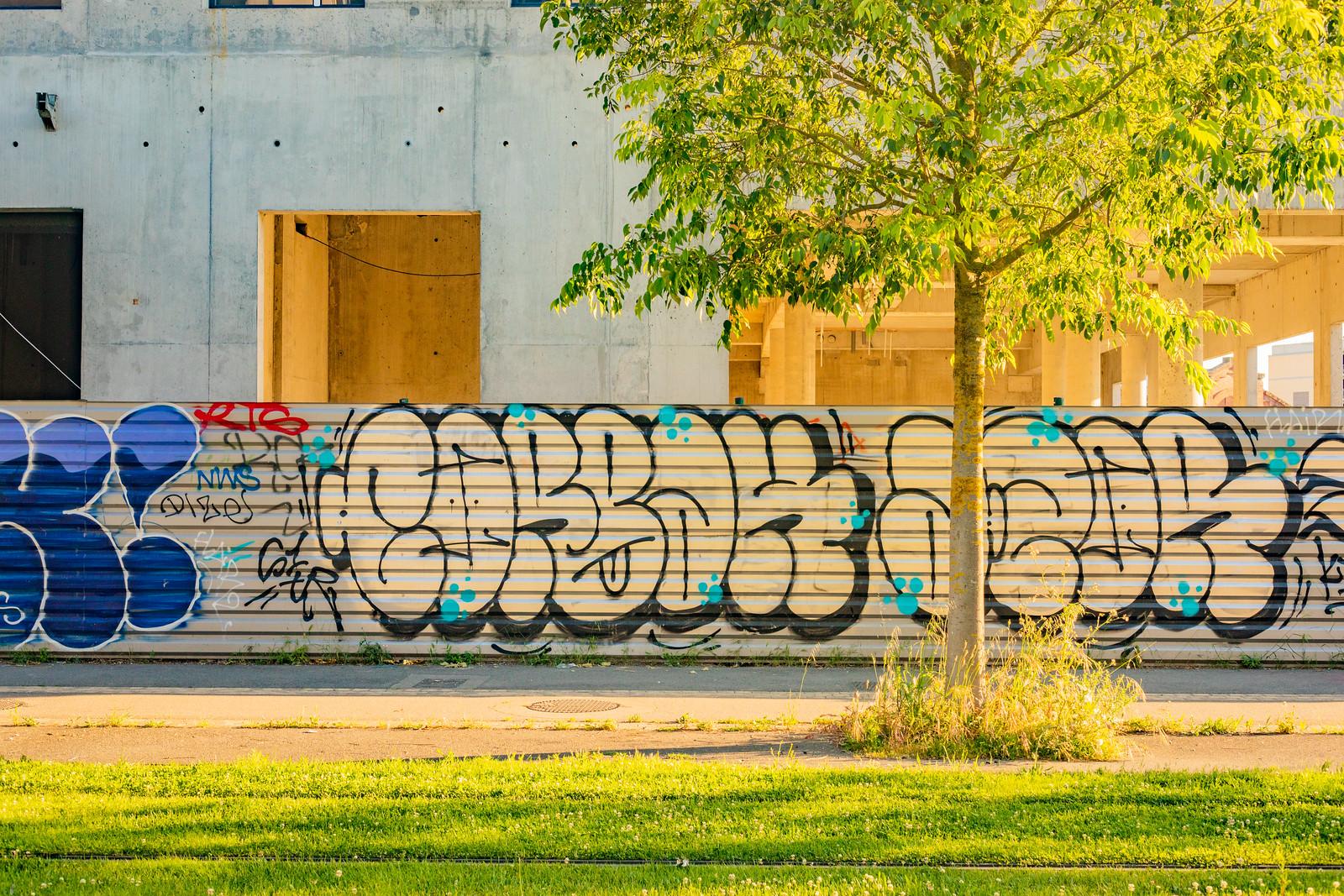 Graffitis à la Cartoucherie à Toulouse, 2019