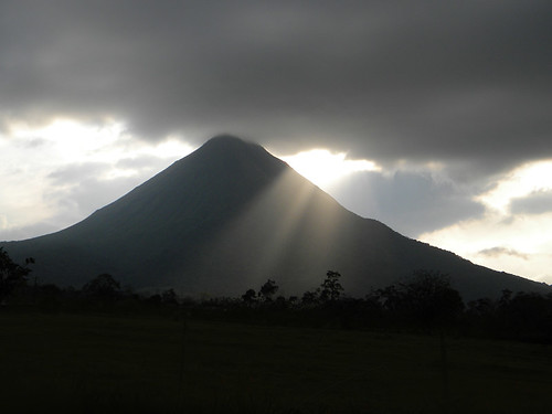 Silhouette of the Arenal Volcano in Costa Rica