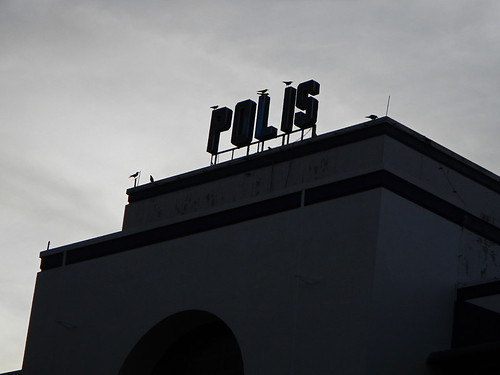Silhouette of the Polis building in Penang, Malaysia