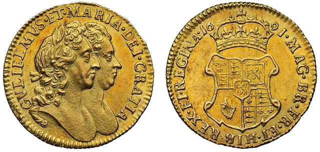 1691 William and Mary Half Guinea