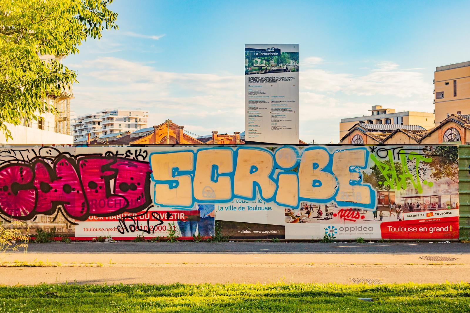 Photo d'un graffiti de l'artiste Scribe à Toulouse, 2019 BORISSECRETIN