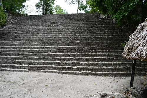 Steps leading to Temple 1. From History Comes Alive at the Chacchoben Ruins Near Puerto Costa Maya
