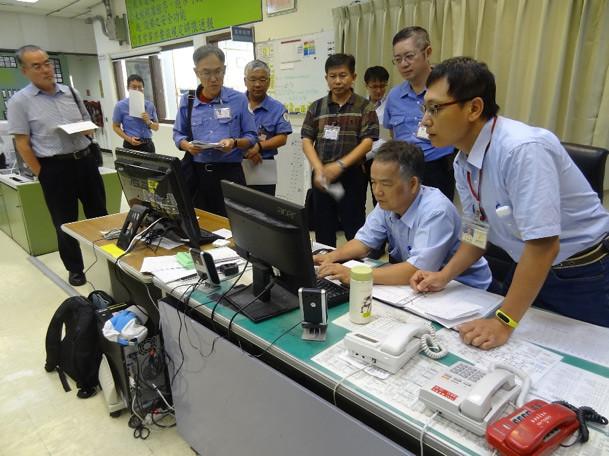 原能會昨(8日)進行非上班日無預警動員測試。原能會提供