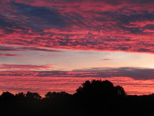 dawn sunrise clouds sky belmont west michigan summer september