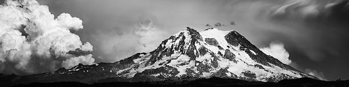 piercecounty blackandwhite clouds dramatic glacier landscape longmire mountrainier mountain pacificnorthwest panorama paradise peak puyallup snow summit tanwaxcountrychapel washington weather pacifi nationalpark moody storm rain wind seattle tacoma mountainclimbing vacation travel