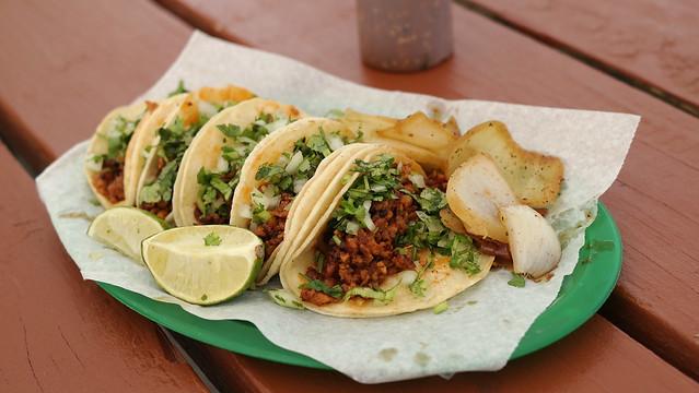Al Pastor Tacos Taqueria La Mexicana in Des Moines, Iowa
