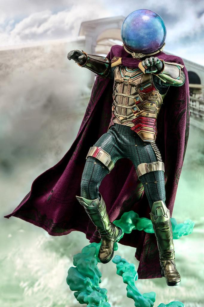 「確定新增傑克·葛倫霍頭雕配件」鋼鐵人與索爾的合體?! Hot Toys - MMS556 -《蜘蛛人:離家日》神秘客 Mysterio 1/6 比例人偶作品