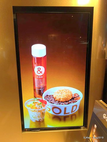 light box of GOLD MENCHI,Japanese fried meat pie& bubble tea , food court, Elite department store, SJKen , Aug 23, 2019, Taipei, Taiwan