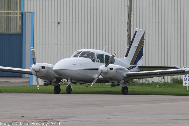 G-CALL - 1977 build Piper PA-23-250 Aztec F (PA-27), visiting Hawarden