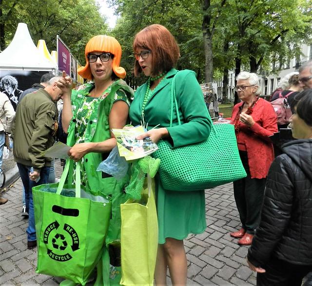 Ladies in green
