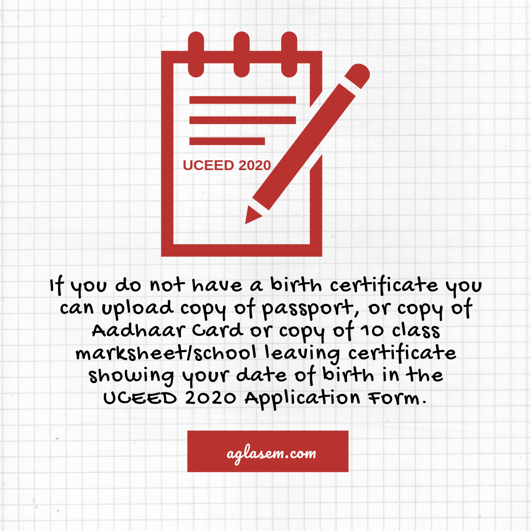 UCEED 2020 Application Form