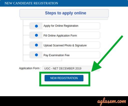 UGC NET New Registration
