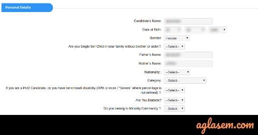 UGC NET Application: Personal Details