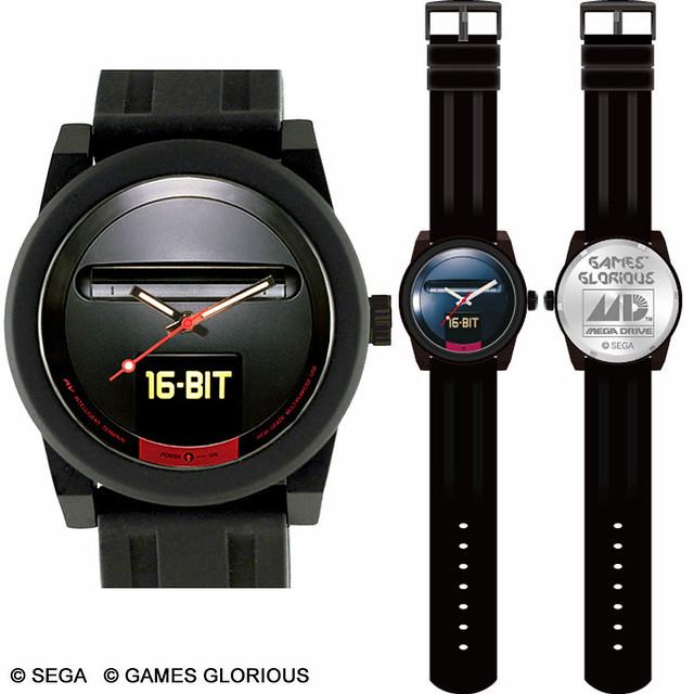 熱情復古 16bit 魂穿起來!SEGA 推出多款 MEGA DRIVE 主題商品(メガドライブ腕時計 シャツ ソックス)