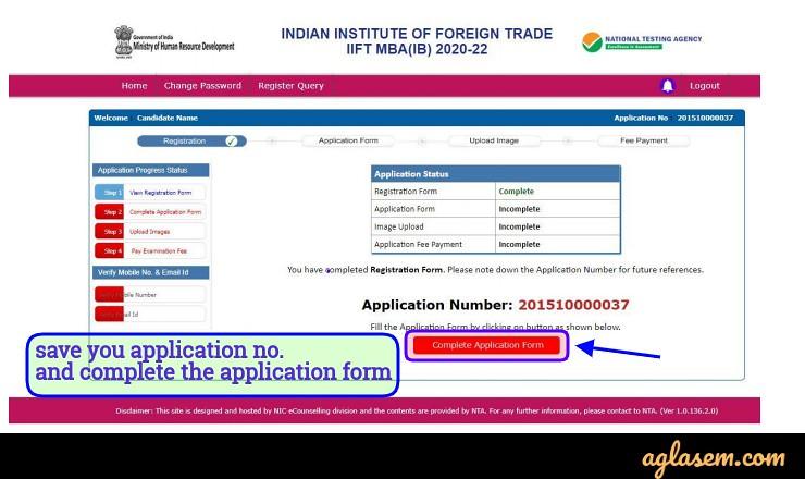 iift 2020 registration form